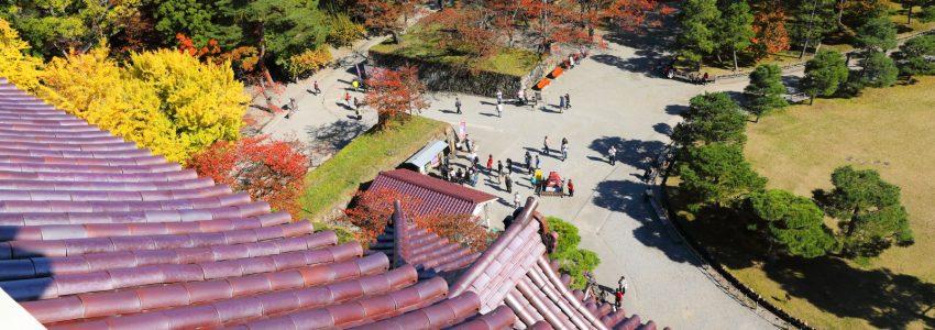 鶴ヶ城の写真でクイズDMを作りました。