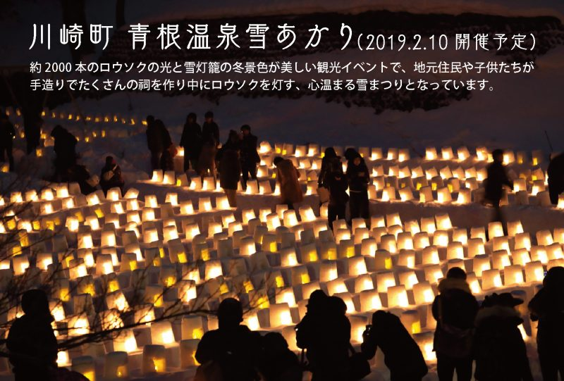 川崎町「青根温泉雪あかり」のDMです。